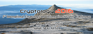 5th International Cryptology and Information Security Conference 2016 (Cryptology2016)